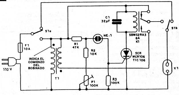 Circuito Com Scr Tic 106 : Estabilizador automatico de tensión art s