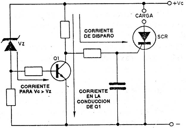 Circuito Com Scr Tic 106 : Alarma de subtension art s