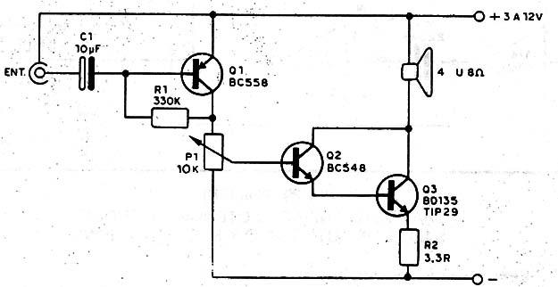 como hacer un mini amplificador con 2 transistores