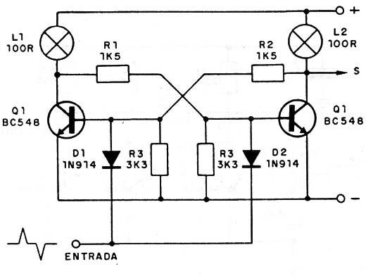 circuito multivibrador monoestable con transistores