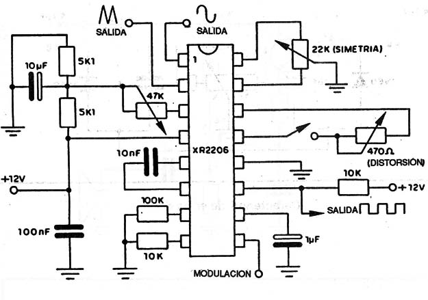 circuito xr2206  function generator using xr circuit pcb